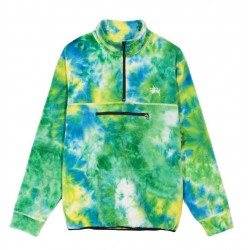 POLAIRE STUSSY POLAR FLEECE MOCK - TIE DYE