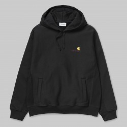 SWEAT CARHARTT WIP HOODED AMERICAN SCRIPT - BLACK