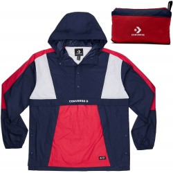 VESTE CONVERSE CONS PACKABLE HOODED - BLUE RED WHITE