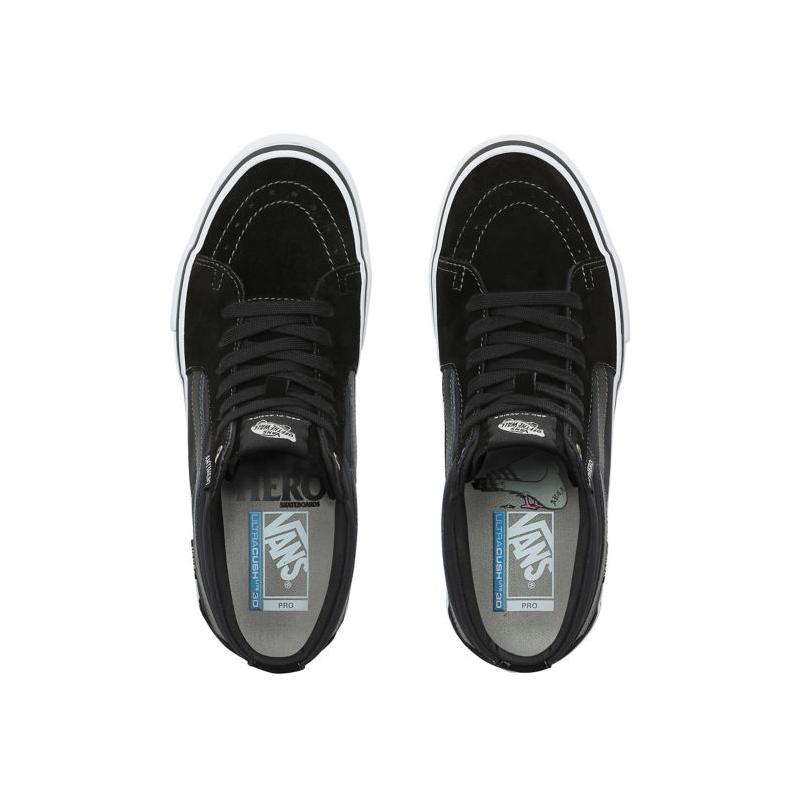 Mid Grosso Sk8 Hero Chaussures Pro Vans Black Anti EY2W9eDHI