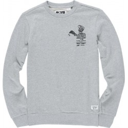 SWEAT ELEMENT SPILT CREW - GRIS CHINE