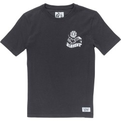 T-SHIRT ELEMENT BOY OFF BLACK - PAINTED SS