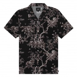 CHEMISE HUF HIGHLINE SS - BLACK