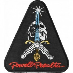PATCH POWELL PERALTA SKULL & SWORD - BLACK