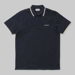 POLO CARHARTT SCRIPT EMBROIDERY - DARK NAVY WHITE PRIMULA