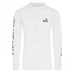 T-SHIRT VANS X ANTI HERO ON THE WIRE L/S - WHITE