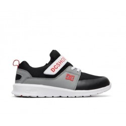 CHAUSSURE DC SHOES HEATHROW PRESTIGE EV KID - BLACK GREY RED