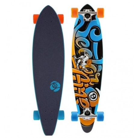 "LONGBOARD SECTOR 9 SWIFT 34.5"" BLEUE - ORANGE"