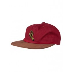CASQUETTE SANTA CRUZ SCREAMING MONO HAND - BURGUNDY