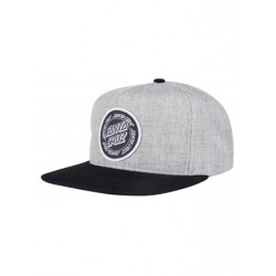 CASQUETTE SANTA CRUZ RING DOT SNAPBACK - CHARCOAL BLACK