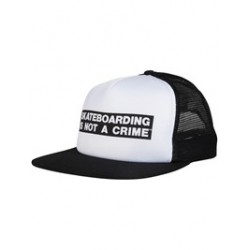 CASQUETTE SANTA CRUZ NOT A CRIME - WHITE BLACK