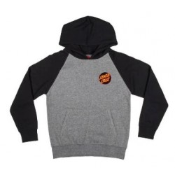 SWEAT SANTA CRUZ YOUTH OTHER DOT HOOD - BLACK DARK HEATHER