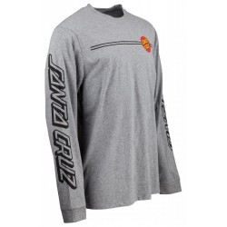 T-SHIRT SANTA CRUZ OG CLASSIC DOT LS - DARK HEATHER