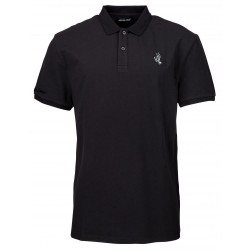 POLO SANTA CRUZ CUT AND SEW SCREAMING HAND - BLACK