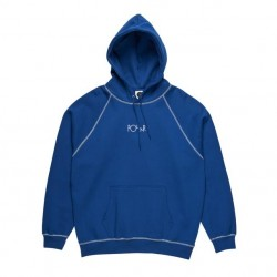 SWEAT POLAR CONTRAST DEFAULT HOODIE - DARK BLUE
