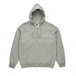 SWEAT POLAR STROKE LOGO ZIP - GREY