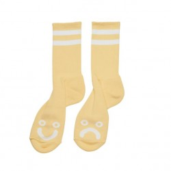 CHAUSSETTES POLAR HAPPY SAD - LIGHT YELLOW