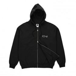 SWEAT POLAR STROKE LOGO ZIP HOODIE - BLACK
