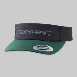 CASQUETTE CARHARTT WIP TERRACE VISOR - NYLON BOTTLE GREEN DARK NAVY BLACK