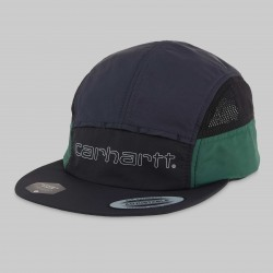 CASQUETTE CARHARTT WIP TERRACE CAP - NYLON BLACK DARK NAVY BOTTLE GREEN