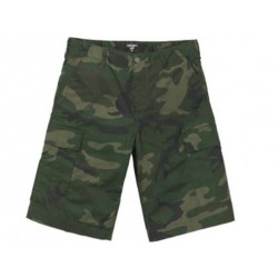 SHORT CARHARTT WIP AVIATION SHORT - CAMO LAUREL RINSED