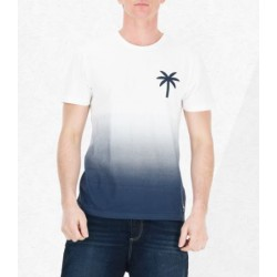 T-SHIRT PICTURE ORGANIC SUNSET - DARK BLUE