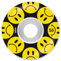 ROUE ENJOI FROWNY BLACK YELLOW 55MM
