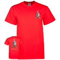 T-SHIRT POWELL PERALTA SKULL AND SWORD RED