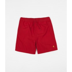 BOARDSHORT CARHARTT CHASE SWIM TRUNKS - CARDINAL GOLD