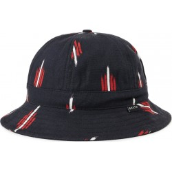 BOB BRIXTON BANKS II BUCKET HAT - BLACK RED