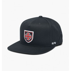 CASQUETTE BRIXTON X INDEPENDENT HEDGE SNAPBACK - BLACK