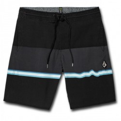 "SHORT BOARDSHORT VOLCOM 3 QUARTA STONEY 19"" - BLACK"
