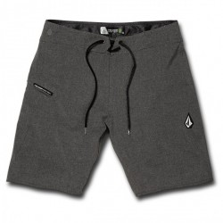 "SHORT BOARDSHORT VOLCOM LIDO STATIC MOD 20"" - CHARCOAL HEATHER"