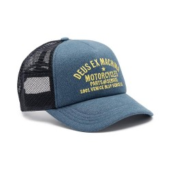 CASQUETTE DEUS EX MACHINA VENICE TRUCKER DARK BLUE