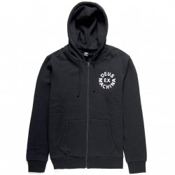 SWEAT DEUS EX MACHINA ZIP HOODIE CIRCLE LOGO - BLACK