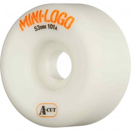 ROUES MINI LOGO WHEELS A-CUT 53MM 101A - WHITE