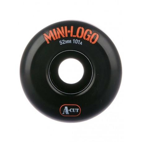 ROUES MINI LOGO WHEELS A-CUT 52MM 101A - BLACK