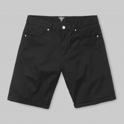 SHORT CARHARTT WIP SWELL - BLACK RINSED