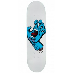 BOARD SANTA CRUZ SCREAMING HAND WHITE TAPER TIP - 8.0""