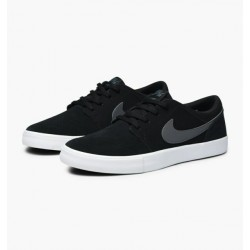 CHAUSSURES NIKE SB PORTMORE 2 SOLAR - BLACK DARK GREY WHITE