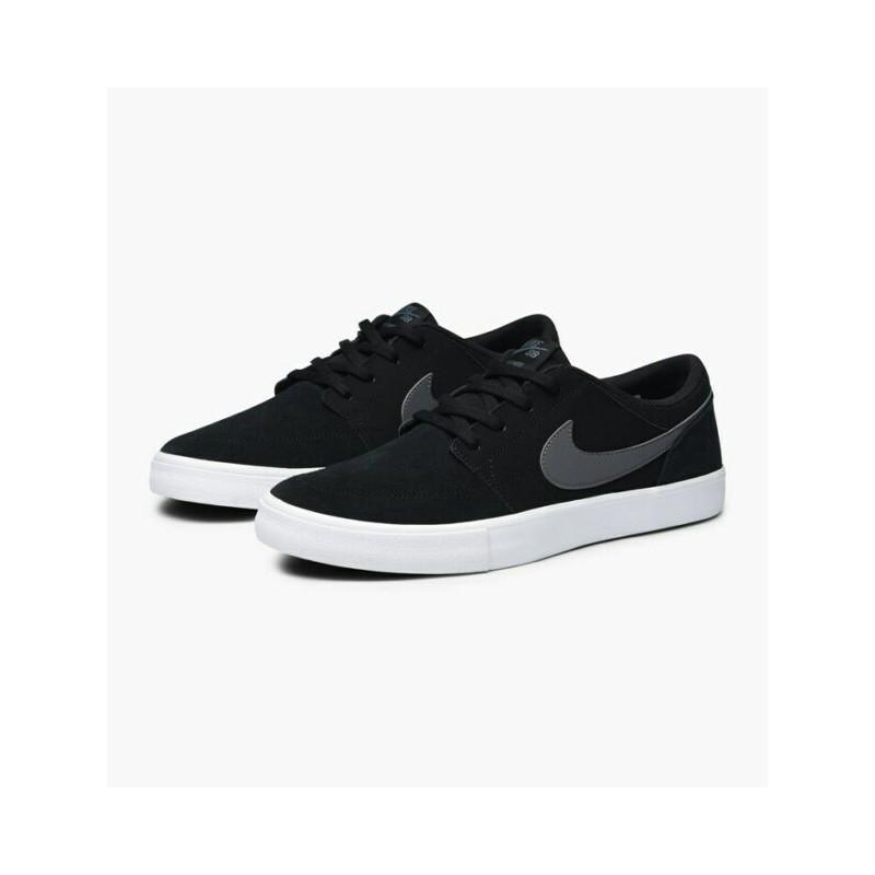 Chaussures Nike Sb Portmore 2 Solar Black Dark Grey White