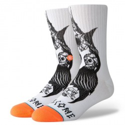 CHAUSSETTES STANCE X WELCOME SURFSKATE DARKNESS - WHITE