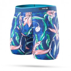 BOXER STANCE BRIEF PLUMERIA WAVE BB - BLUE