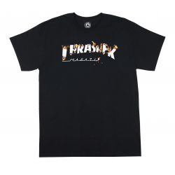 T-SHIRT THRASHER INTRO BURNER - BLACK