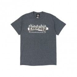 T-SHIRT THRASHER RIPPED - DARK HEATHER
