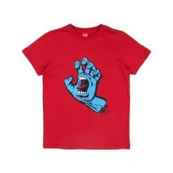T-SHIRT SANTA CRUZ ENFANT SCREAMING HAND - DEEP RED