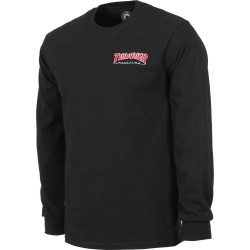 T-SHIRT THRASHER EMBROIDERED LS - BLACK