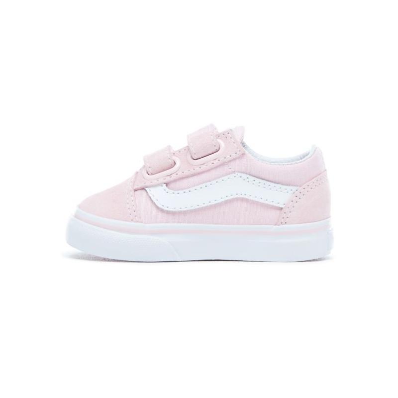 Chaussures Vans T Old Skool V Suede Canvas Charlk Pink