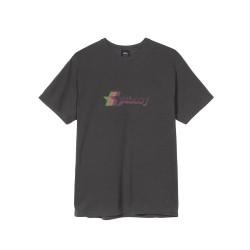 T-SHIRT STUSSY 3 STAR PIGMENT - BLACK