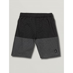 SHORT VOLCOM KID LIDO HEATHER TRUNCK - BLACK